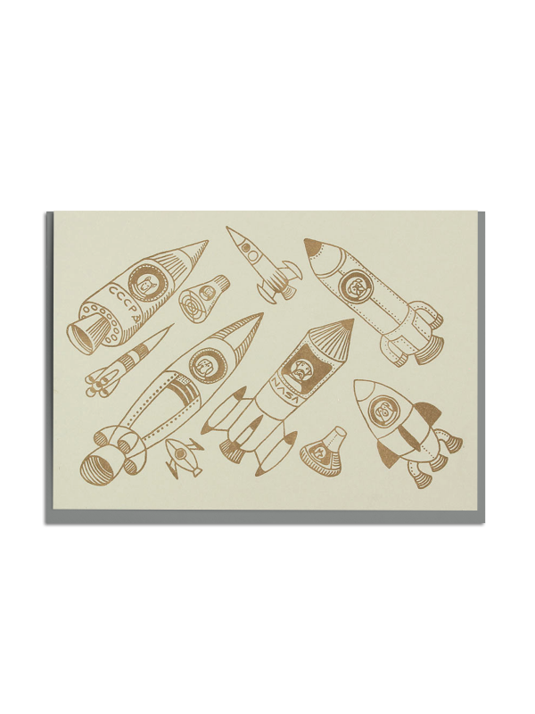 Space Dogs card