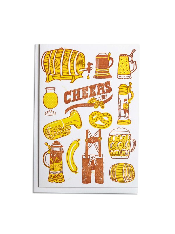 Cheers Beer Letterpress
