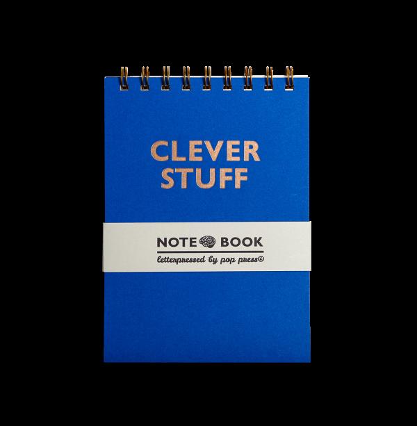 Clever Stuff Letterpress notebook by Pop Press