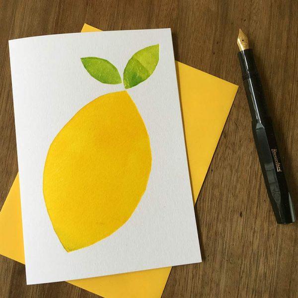orange letterpress card by Pop Press