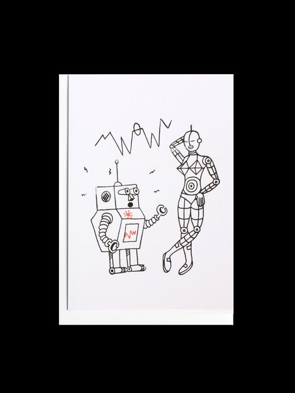 Robot Wow Letterpress Card