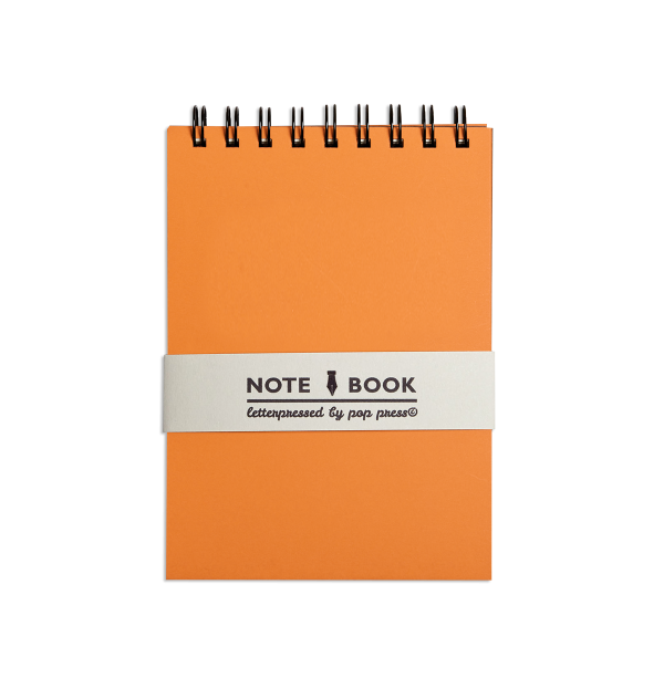 Orange Pop Press notebook