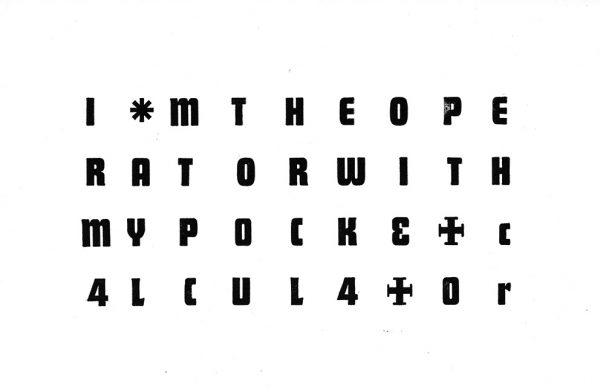 Pocket Calculator Letterpress Print