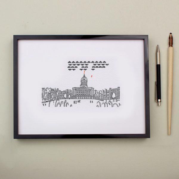 Npttingham Letterpress Print