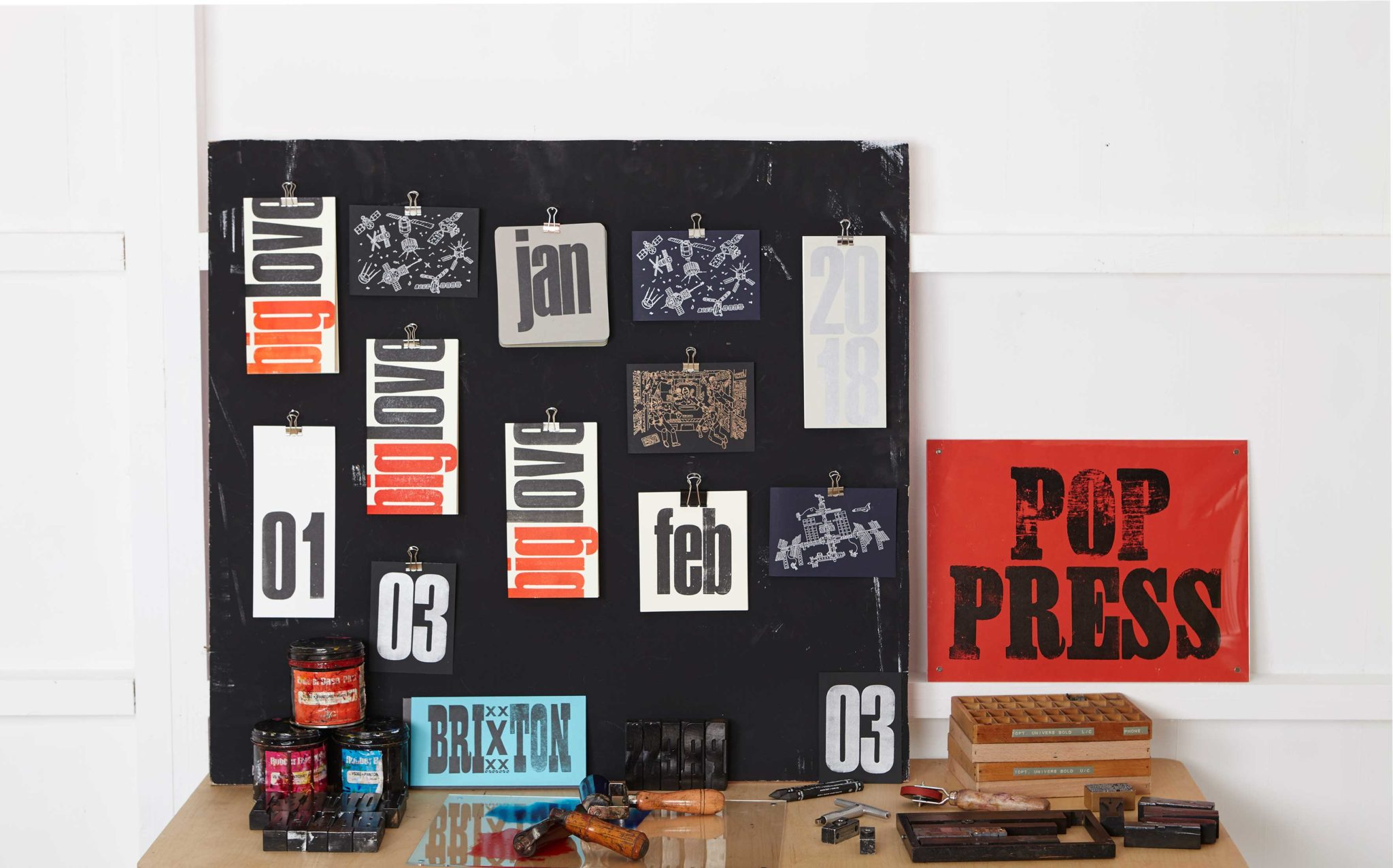 Pop Press Type