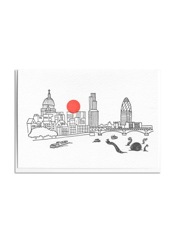 London Invasion letterpress card by Pop Press