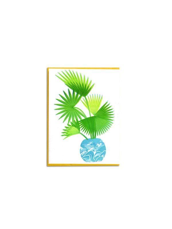 Livistona letterpress card