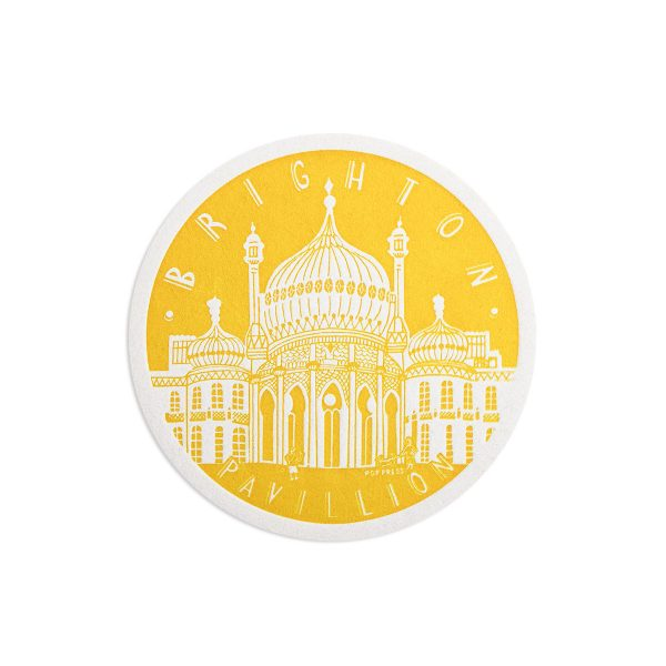 Pavilion Brighton Letterpress coaster by Pop Press