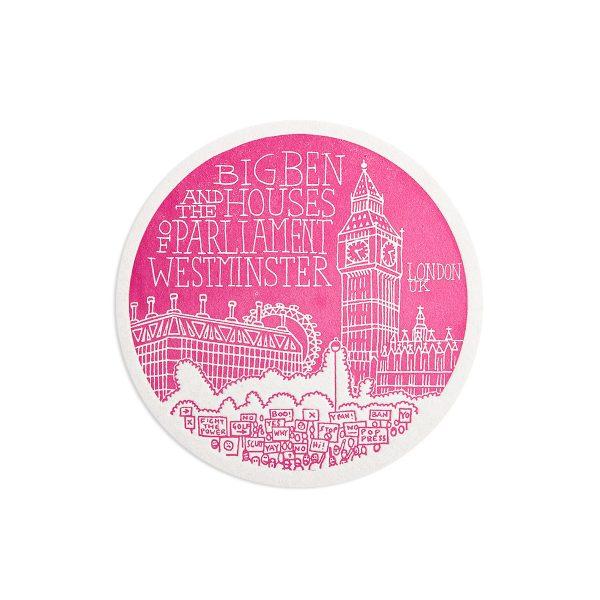 Big Ben London Letterpress coaster by Pop Press