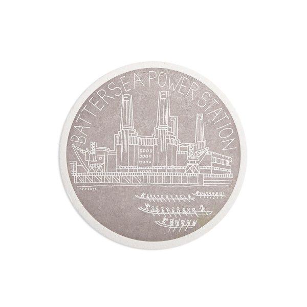 Battersea Power Station London Letterpress coaster by Pop Press