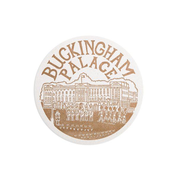 Buckingham Palace London Letterpress coaster by Pop Press