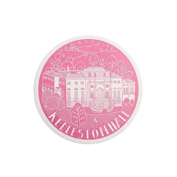 Kedelston Hall Derbyshire Letterpress coaster by Pop Press