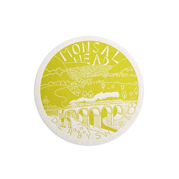 Monsal Head Derbyshire Letterpress coaster by Pop Press