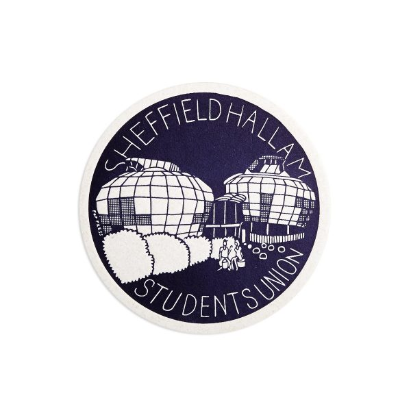 Hallam Students Union Sheffield Letterpress coaster by Pop Press