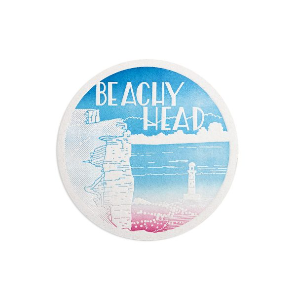 Beachy Head Seaside Letterpress coaster by Pop Press