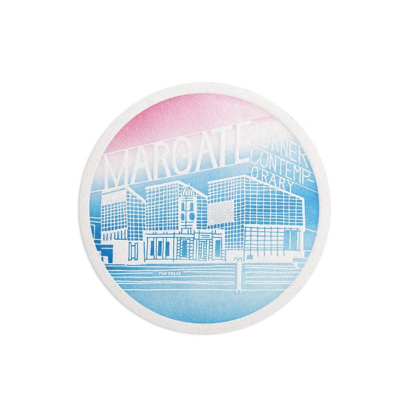 Margate Turner Contemporary Seaside Letterpress coaster by Pop Press