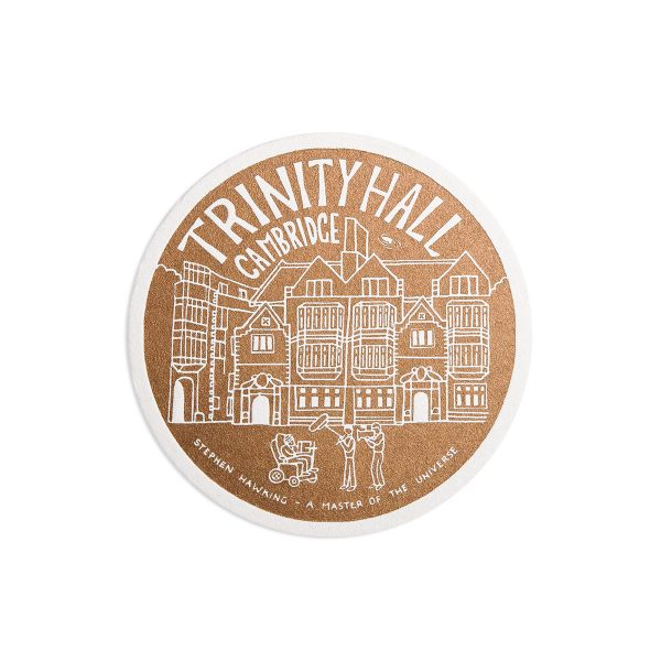 Trinity Hall Science Letterpress coaster by Pop Press