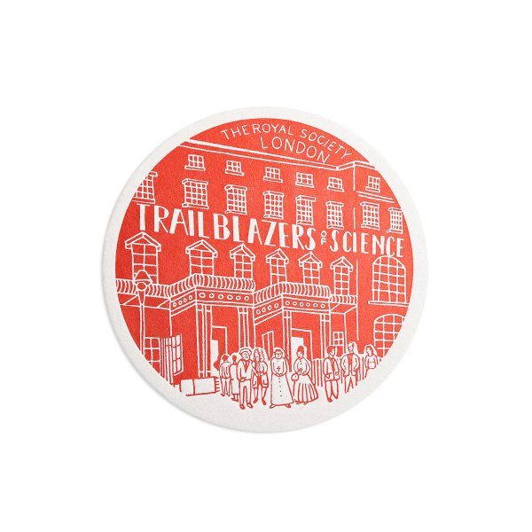 The Royal Society Science Letterpress coaster by Pop Press