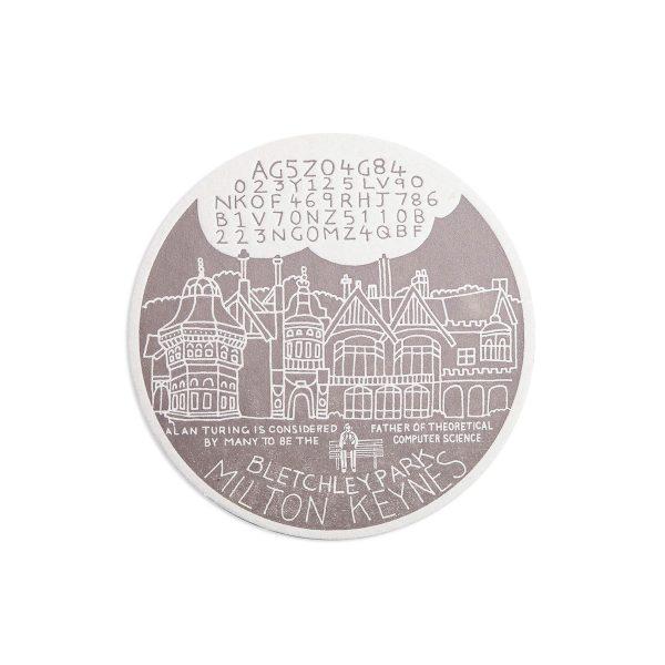 Bletchley Park Science Letterpress coaster by Pop Press