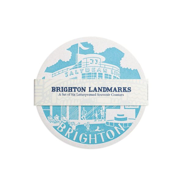Brighton Letterpress Coaster Set by Pop Press