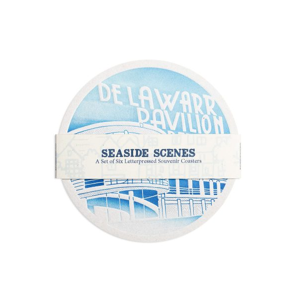 Seaside Letterpress Coaster Set by Pop Press