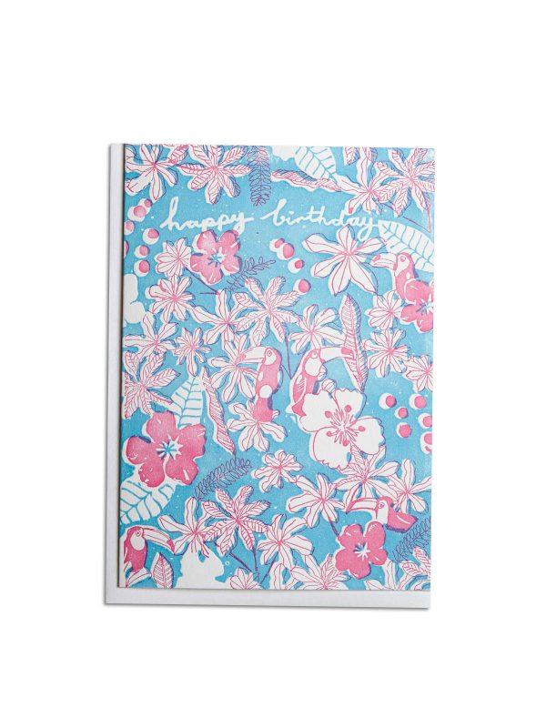 Happy Birthday Toucans letterpress card by Pop Press