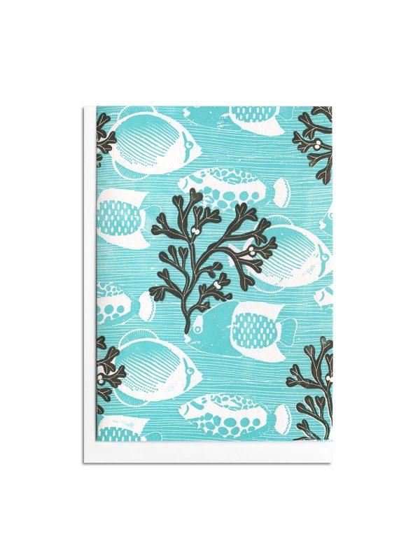Seaweed letterpress card by Pop Press
