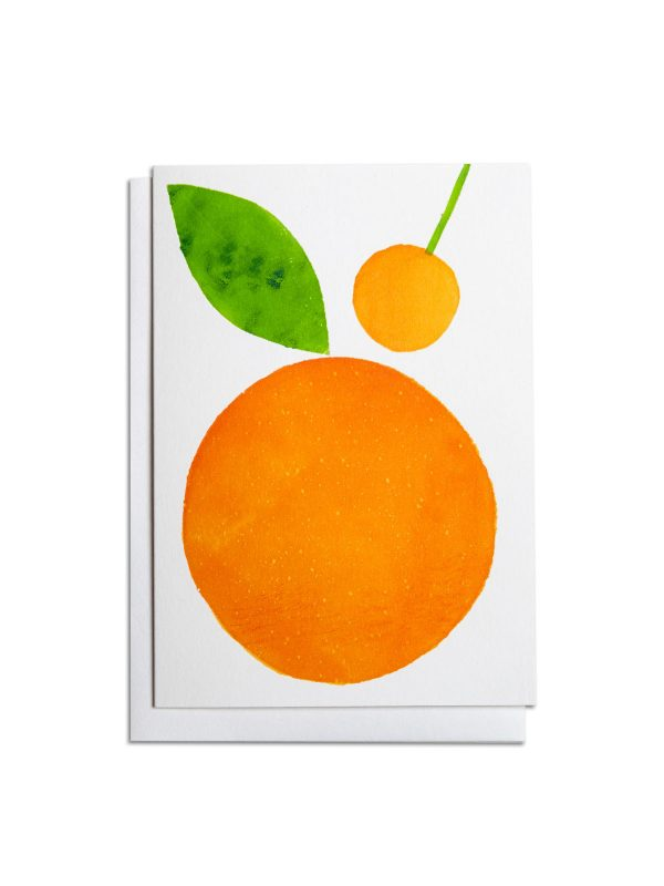 Orange letterpress card by Pop Press