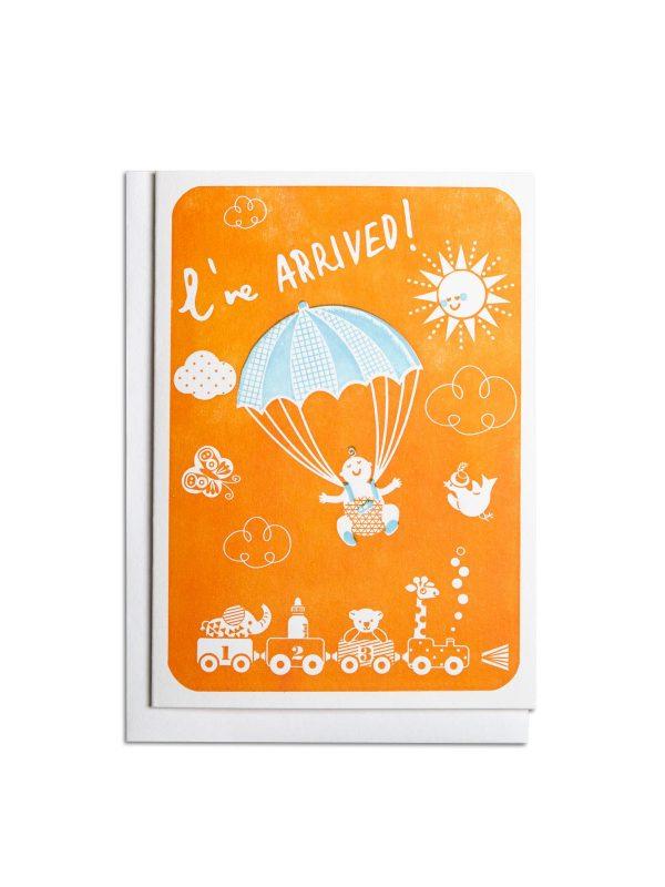 New Baby letterpress card by Pop Press