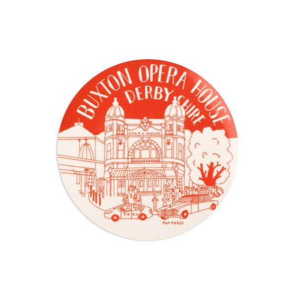 Buxton Opera House Derbyshire Melamine Coaster by Pop Press