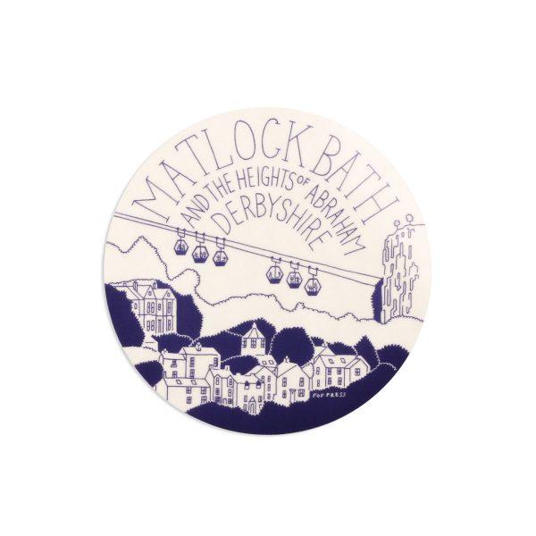 Matlock Bath Derbyshire Melamine Coaster by Pop Press