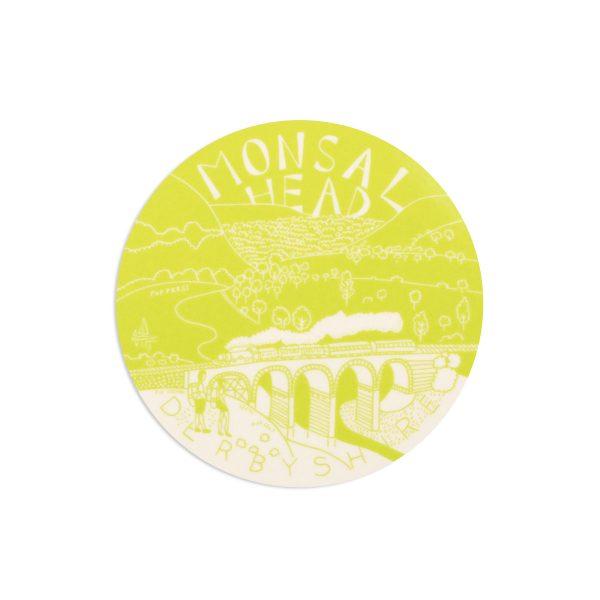 Monsal Head Derbyshire Melamine Coaster by Pop Press
