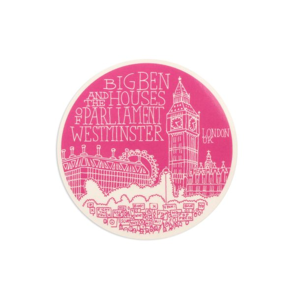 Big Ben London Melamine Coaster by Pop Press