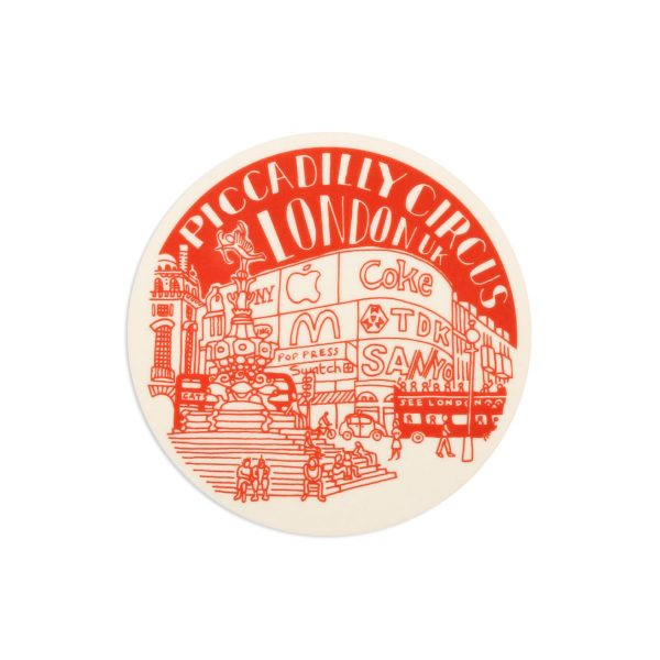 Piccadilly Circus London Melamine Coaster by Pop Press