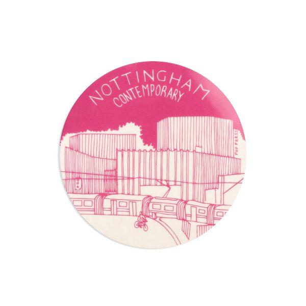 Contemporary Nottingham Melamine Coaster by Pop Press