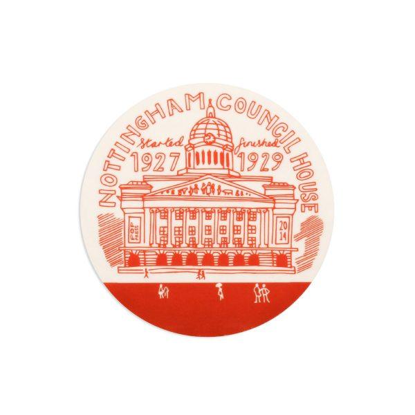 Council House Nottingham Melamine Coaster by Pop Press