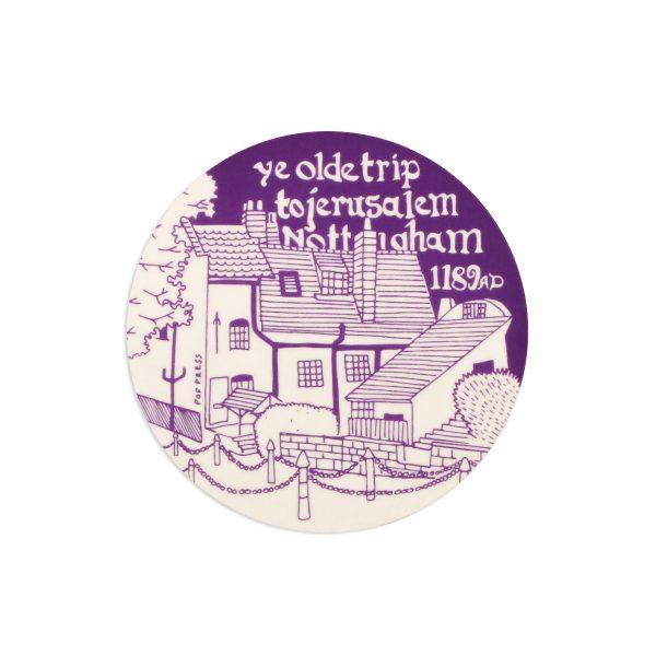 Ye Olde Trip Nottingham Melamine Coaster by Pop Press