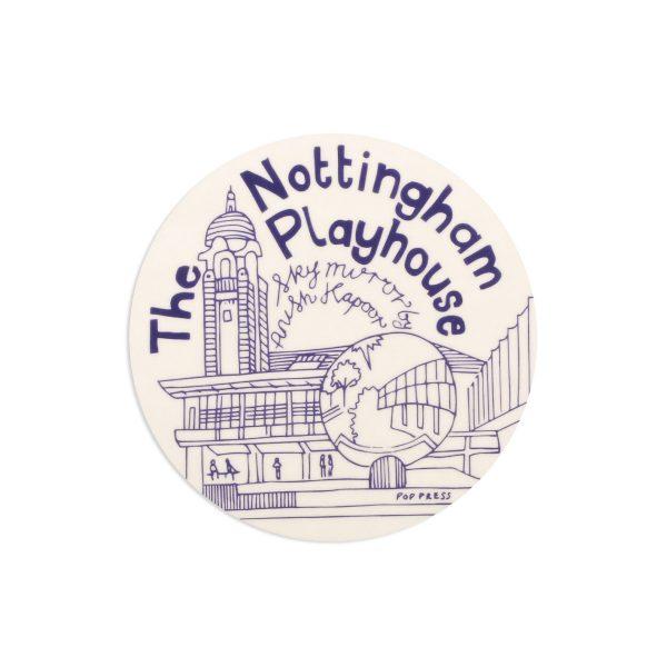 The Playhouse Nottingham Melamine Coaster by Pop Press