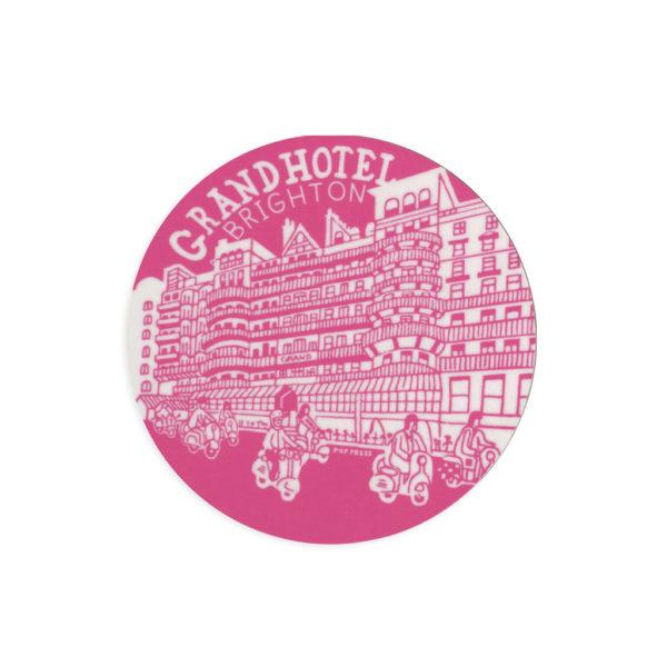 Grand Hotel Brighton Melamine Coaster by Pop Press