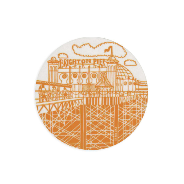 Brighton Melamine Coaster by Pop Press