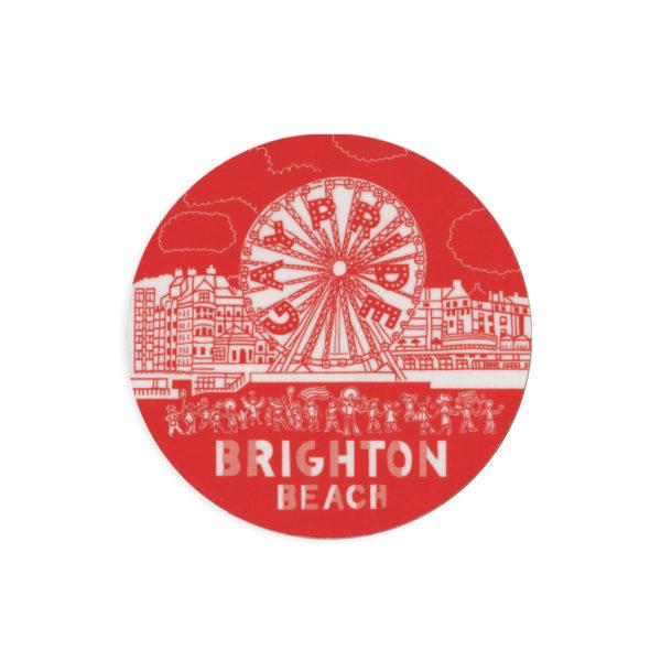 Brighton Beach Melamine Coaster by Pop Press