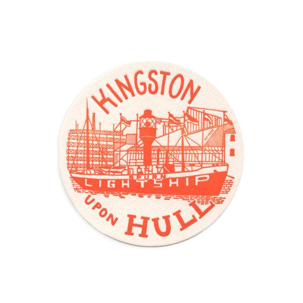 The Spurn Lightship Hull Letterpress Coaster by Pop Press