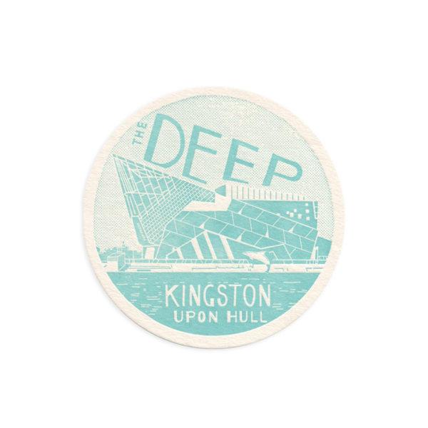 The Deep Hull Letterpress Coaster by Pop Press