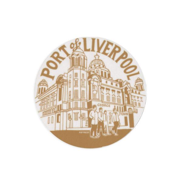 Port of Liverpool Building Melamine Coaster by Pop Press