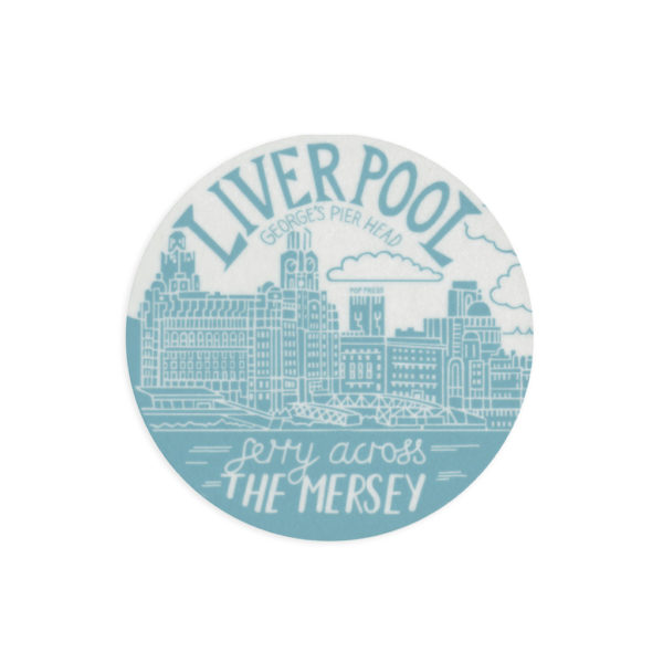The Pier Head Liverpool Melamine Coaster by Pop Press
