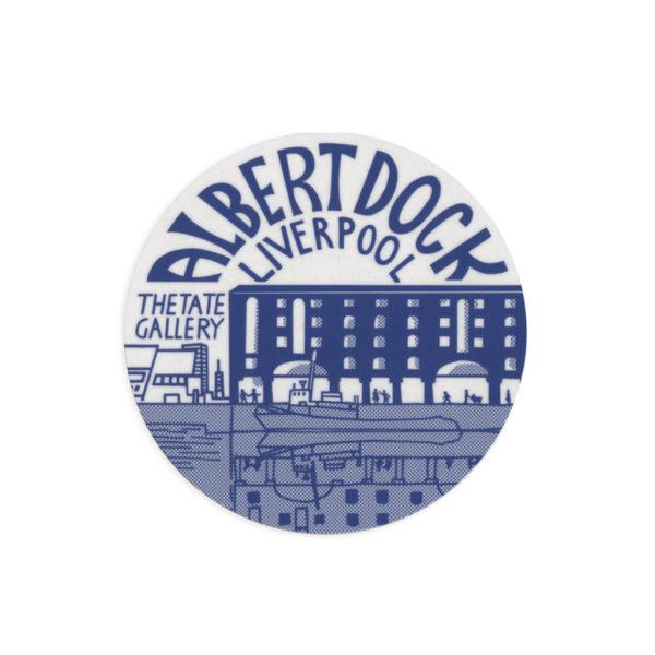 Albert Dock Liverpool Melamine Coaster by Pop Press