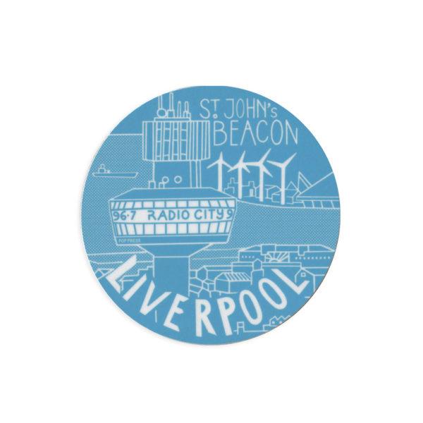 St. Johns Beacon Liverpool Melamine Coaster by Pop Press
