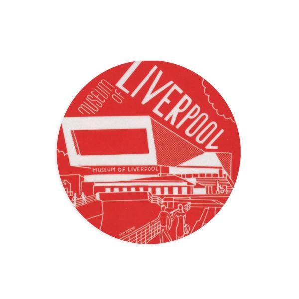 Museum of Liverpool Melamine Coaster by Pop Press